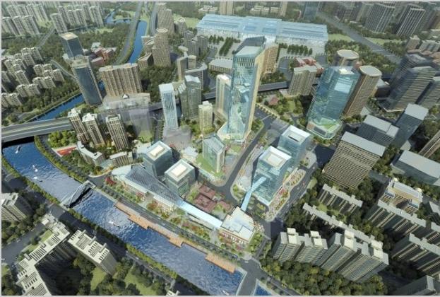 2035新静安看苏河湾,苏河湾看静安国际中心