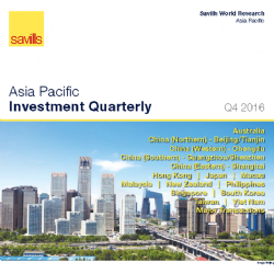 Savills Vietnam reports on Asia- Pacific Investment in Q4/2016