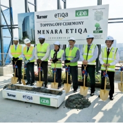 Topping Off Ceremony Marks a Major Construction Milestone for Menara Etiqa