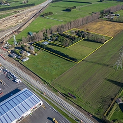 Supremely located Hornby industrial land on the market