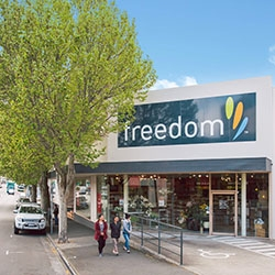 Hobart's Freedom Furniture Store on the Market