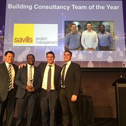 RICS names Savills Project Management 'Building Consultancy Team of the Year' for Fifth Year In A Row