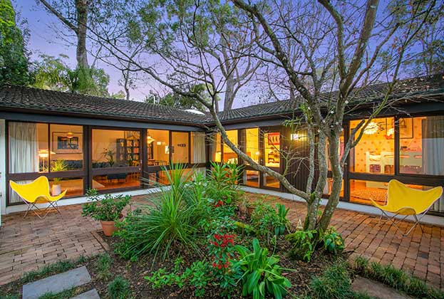 Rare Pettit + Sevitt Courtyard House For Sale
