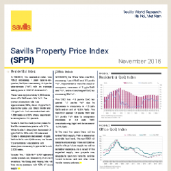 Savills Vietnam announces the Property Price Index November 2016 for Ho Chi Minh City and Hanoi