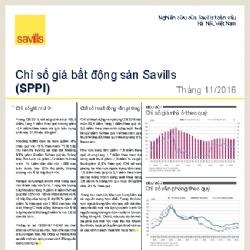 Savills công bố Chỉ số giá bất động sản T11/2016 cho TP. HCM và Hà Nội