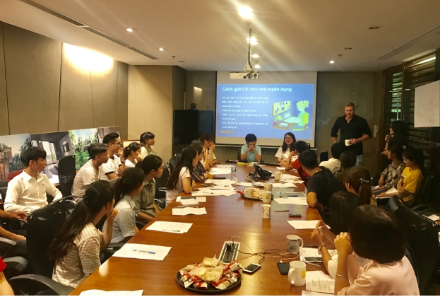 Savills Vietnam hosts professional training for Blue Dragon Children's Foundation